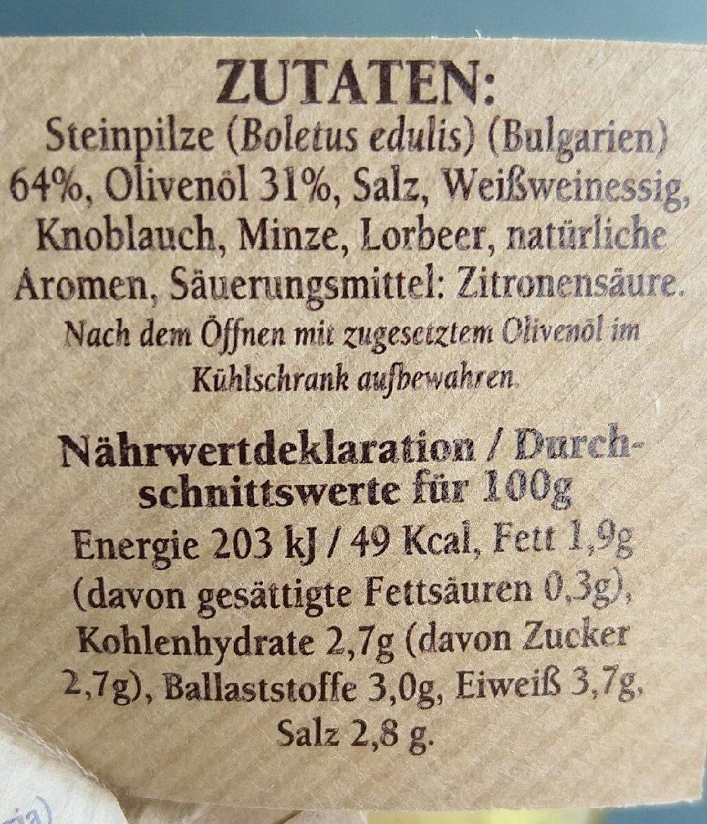 Funghi porcini - Valori nutrizionali - fr