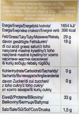 Grana Padano - Informations nutritionnelles - de