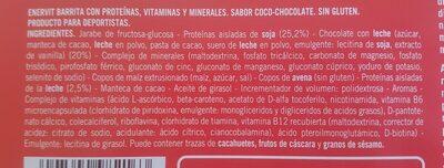 Barrita Con Proteinas, Sabor Coco-chocolate - Ingredientes - es