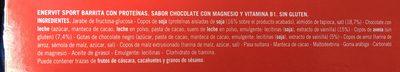 Barrita con Proteínas sabor chocolate - Ingredients - fr