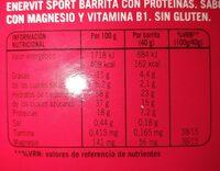 Barrita con Proteínas sabor chocolate - Informació nutricional - fr