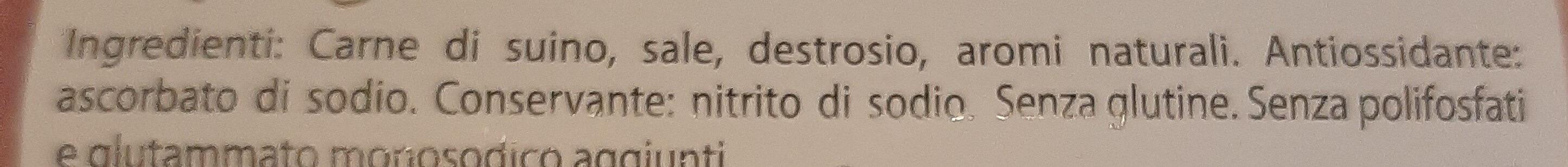 Prosciutto cotto - Inhaltsstoffe - it