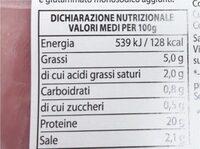 Prosciutto cotto - Nährwertangaben - it