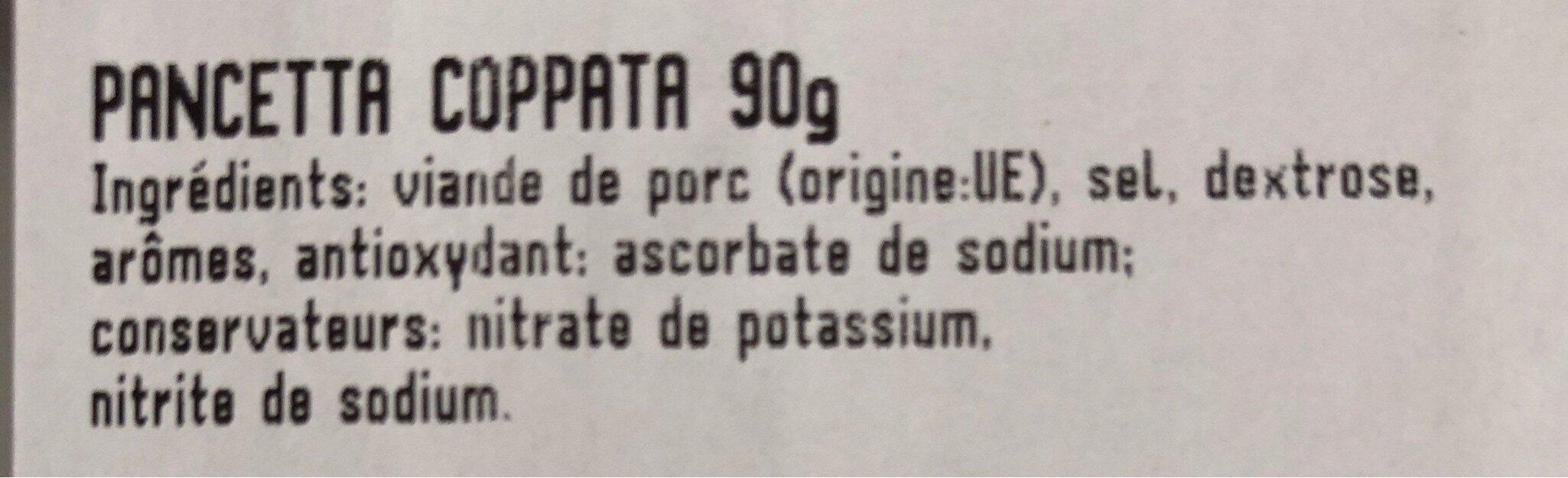 Beretta pancetta coppata - Inhaltsstoffe - fr