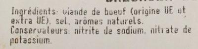 Bresaola della baltellina - Inhaltsstoffe - fr