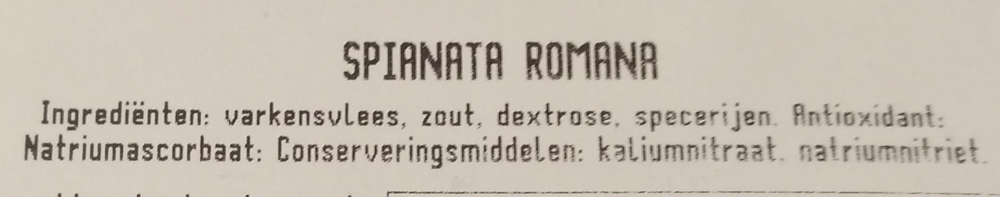 Spianata Romana - Ingredients - nl