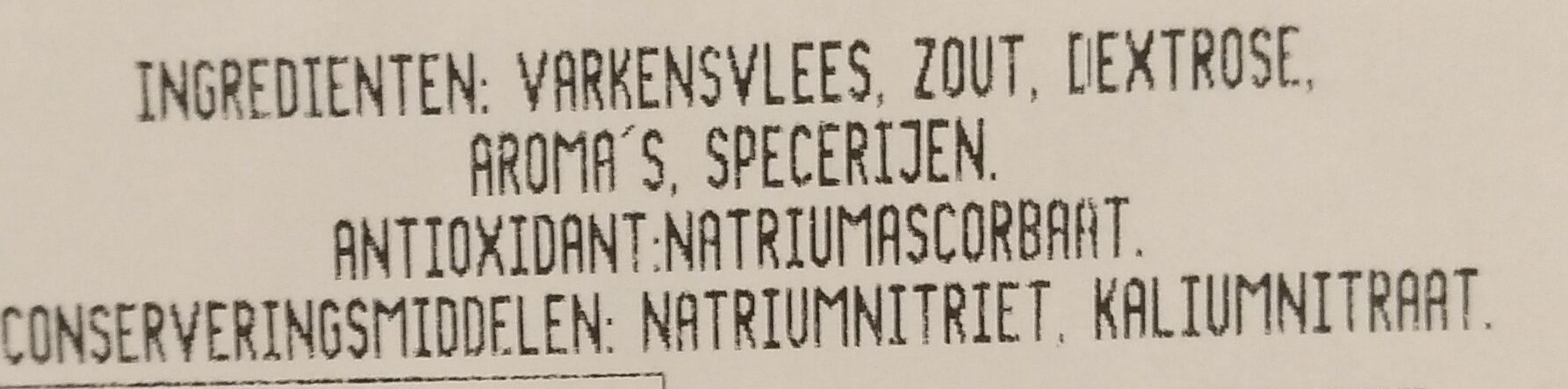 Coppa - Ingrediënten