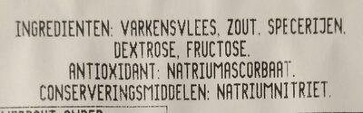 Alpen ham - Ingrediënten - nl