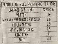 Alpen ham - Voedingswaarden - nl