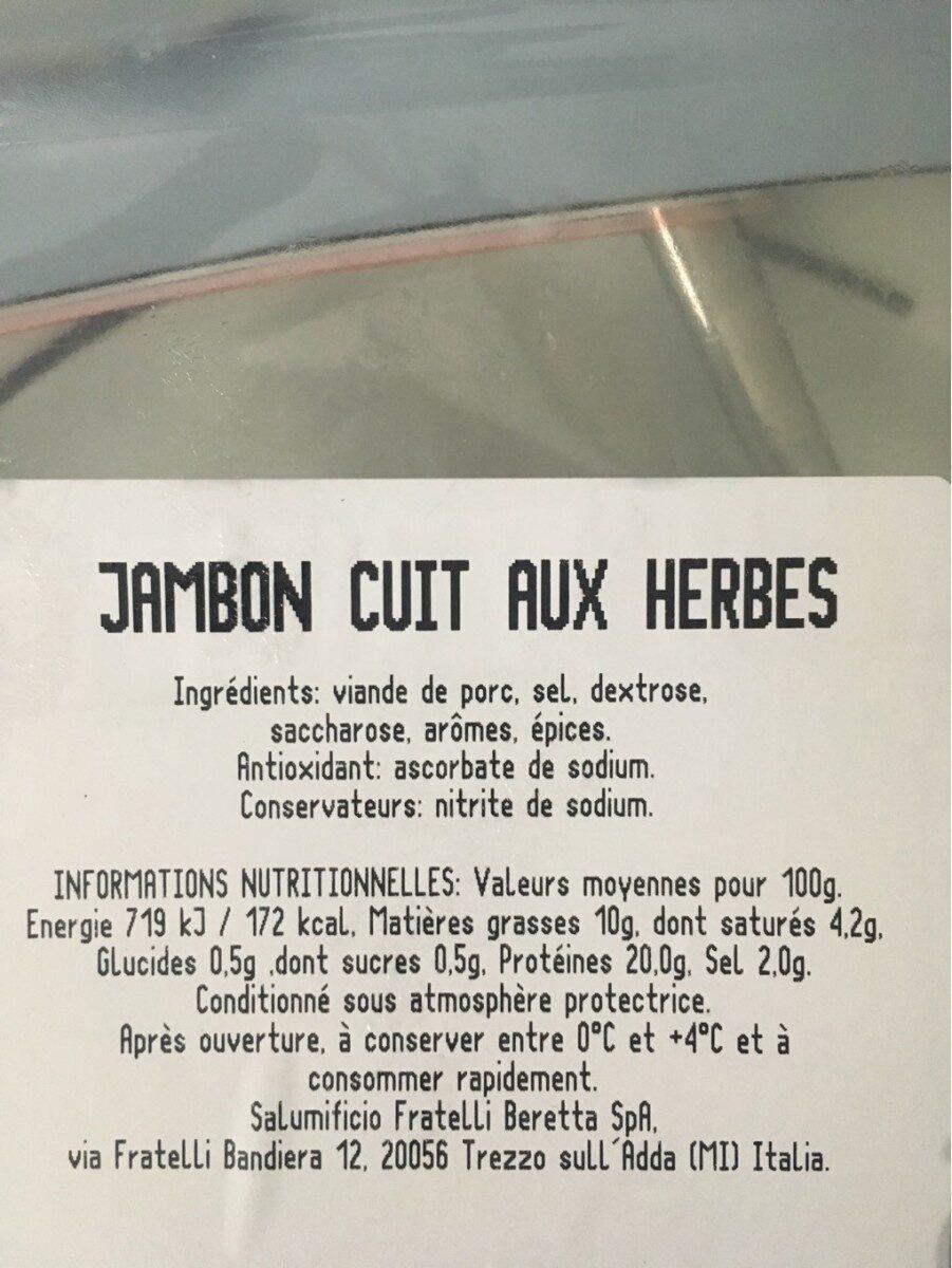 Jambon roti aux herbes - Nährwertangaben - fr