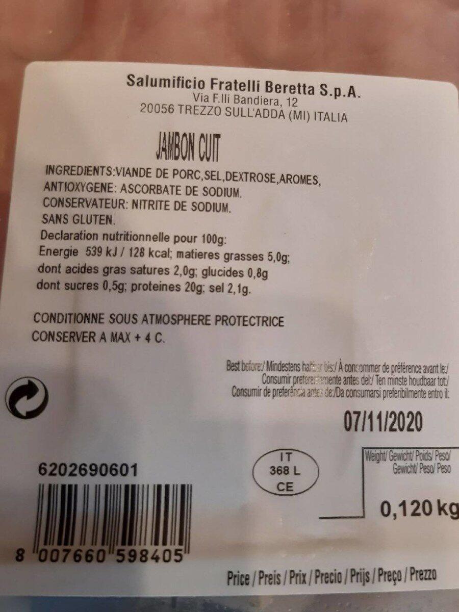 Proscuitto Cotto - Nährwertangaben - fr