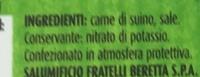prosciutto crudo - Ingrédients - fr