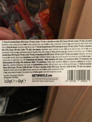 Kinder - Ingredienti - fr