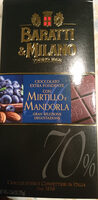 Cioccolato extra-fondente con mirtillo e mandorla - Produit - it