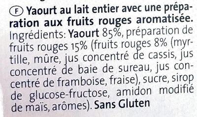 Yogurt ai frutti di bosco - Ingrédients - fr