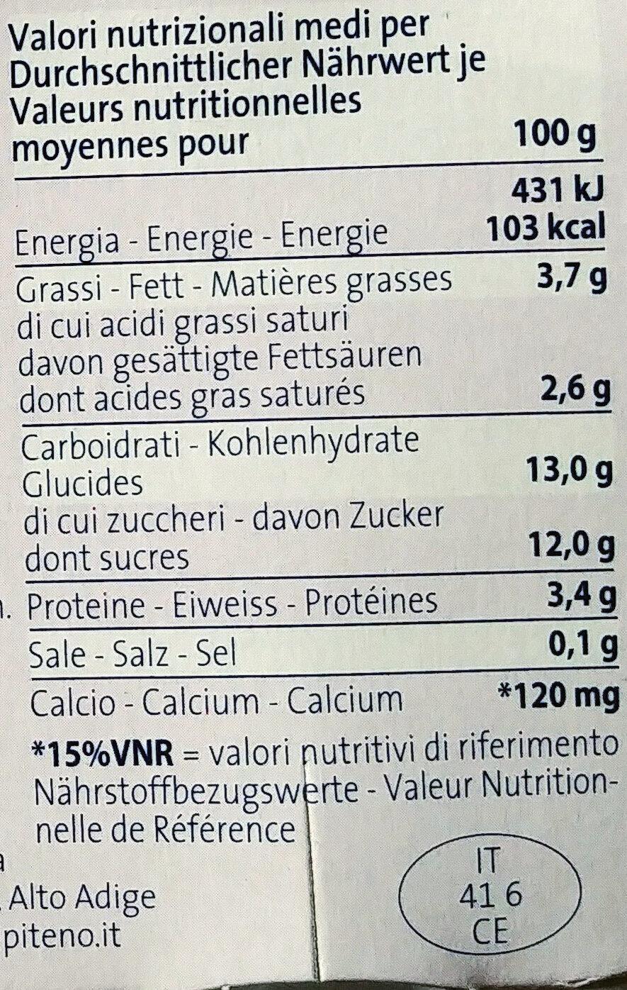 Yogurt ai frutti di bosco - Informations nutritionnelles - fr