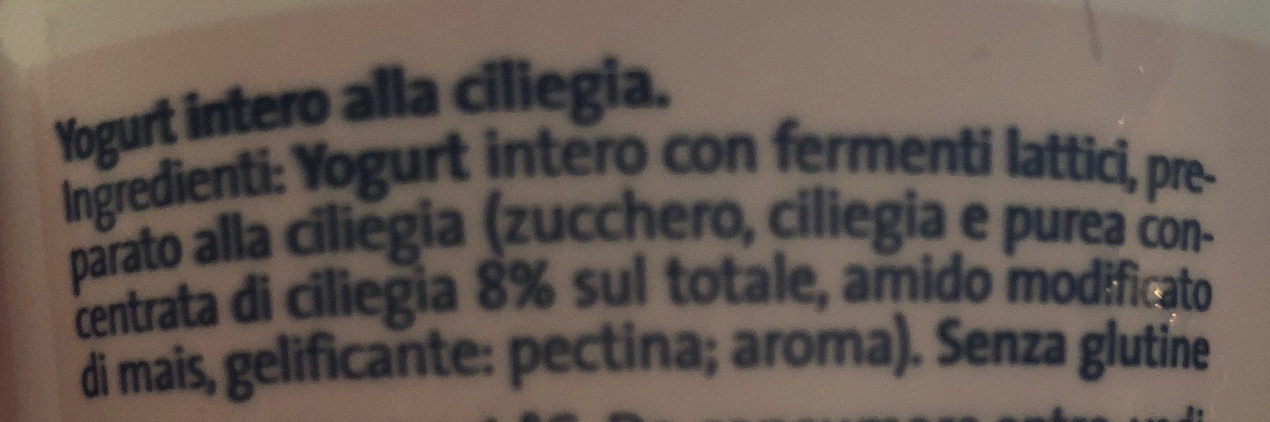 Yogurt ciliegia - Ingredients - it