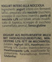 Yogurt nocciola - Ingrédients - fr