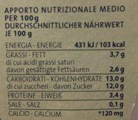 Yogurt nocciola - Informations nutritionnelles - fr