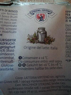 yogurt magro ai frutti di bosco - Product - it