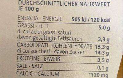Yogurt Stracciatella - Nutrition facts - it