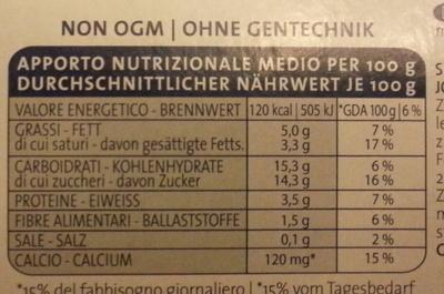 Yogurt alla straciatella - Nutrition facts