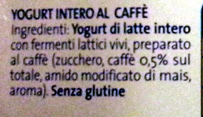 Yogurt intero al caffè - Ingredients - it