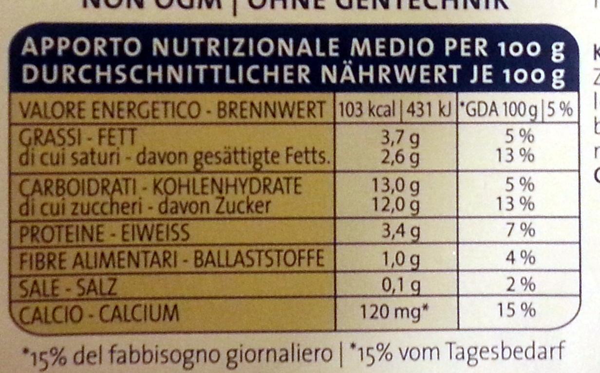 Yogurt intero al caffè - Nutrition facts - it
