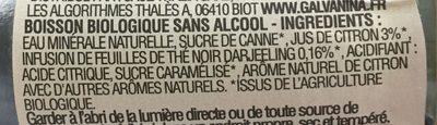 Thé Bio Citron - Ingrédients - fr
