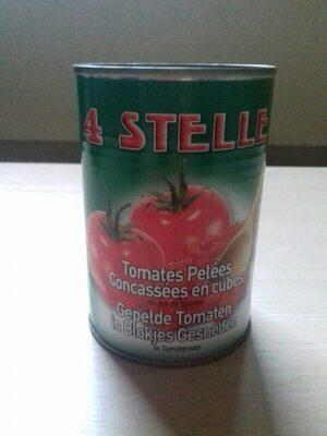 Tomates pelées concassées en cubes - Product - fr