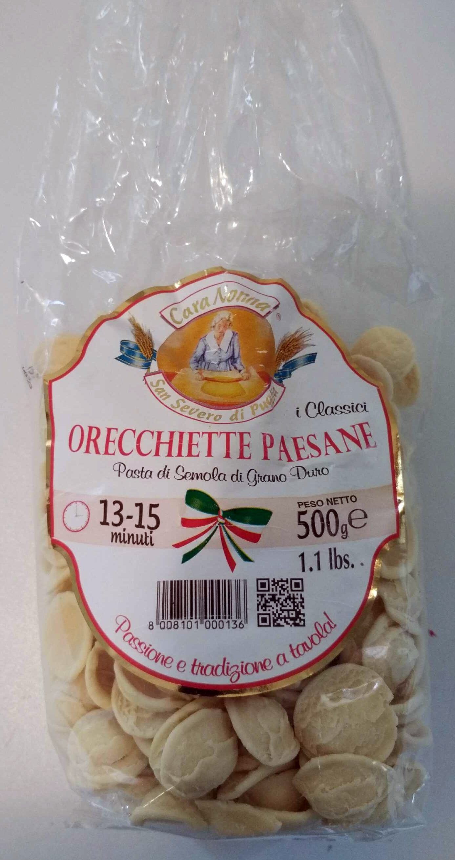 Orecchiette paesane - Produit - fr