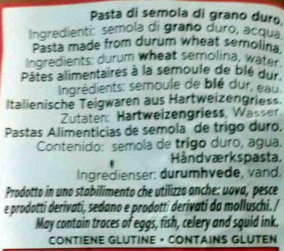 Orecchiette paesane - Ingrédients