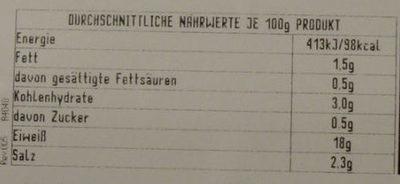 aeQuilibrium Arrosto di Tacchino alla Paprika Dolce - Nährwertangaben