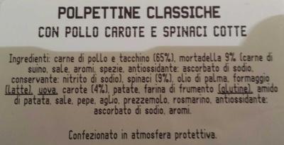 Polpettine - Ingredients - it
