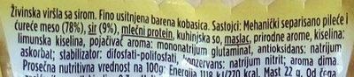 Wudy al Formaggio - Ingredients - sr