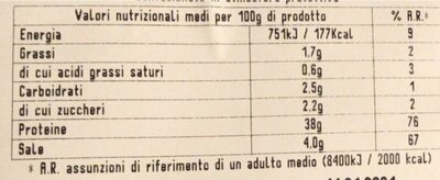 Aequilibrium bresaola di tacchino - Informations nutritionnelles - it