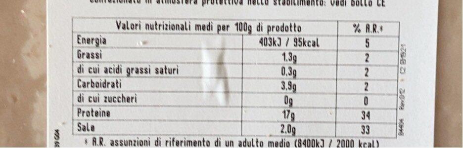 Petto pollo - Nutrition facts - en