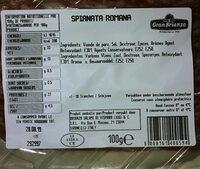 Spianata romana - Voedingswaarden - fr