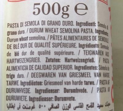 Lenta Lavorazione Grossi No 5 Spaghetti - Ingrediënten