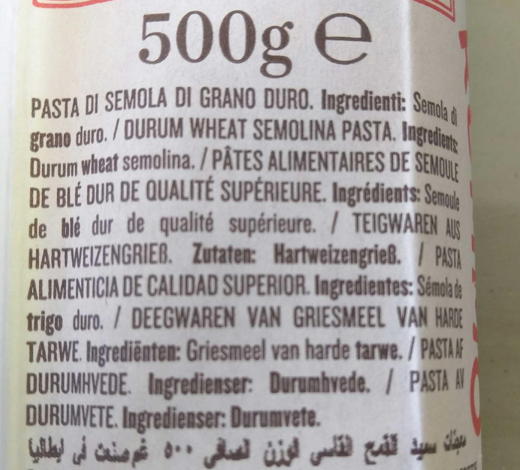 Spaghetti Grossi N°5 - Ingrediënten