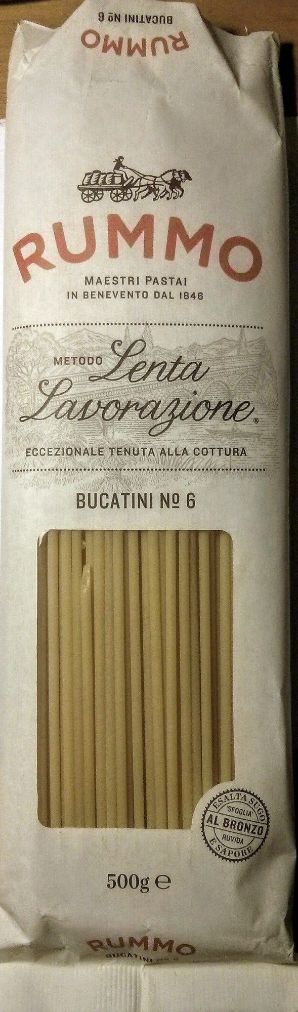 Bucatini N°6 - Rummo - 500 g - Product - fr
