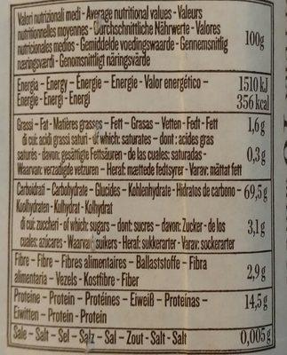 Pasta linguine n°13 - Nutrition facts - en