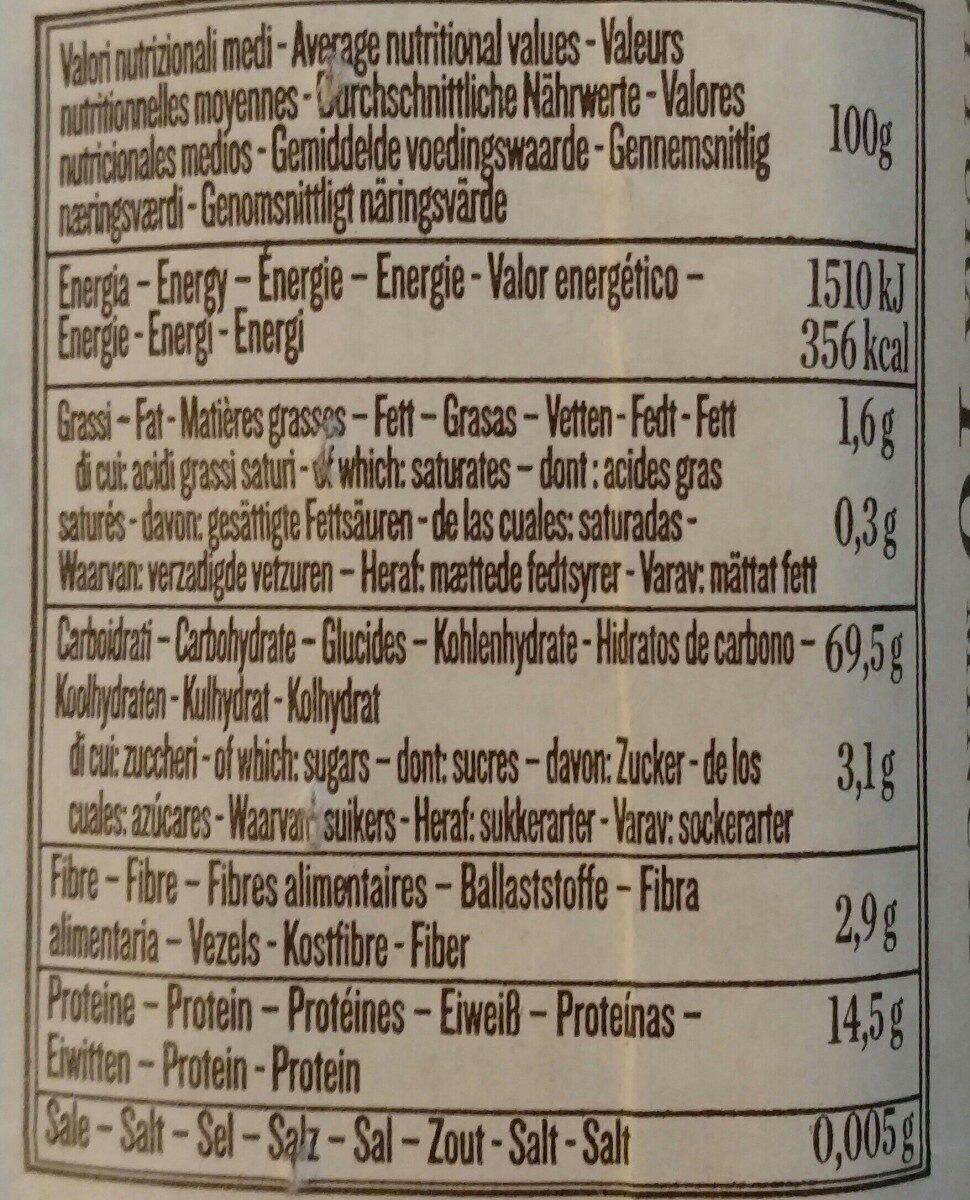 Linguine n°13 - Voedingswaarden - it