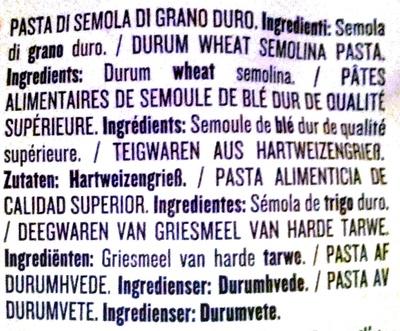 Rummo penne rigate no 66 - Ingrediënten