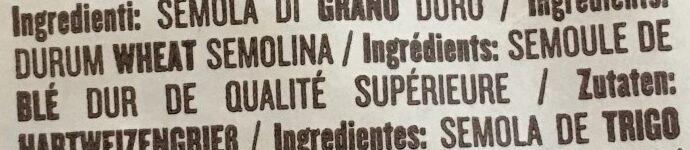 Orecchiette N°87 (Leggendari) - Ingrediënten - fr