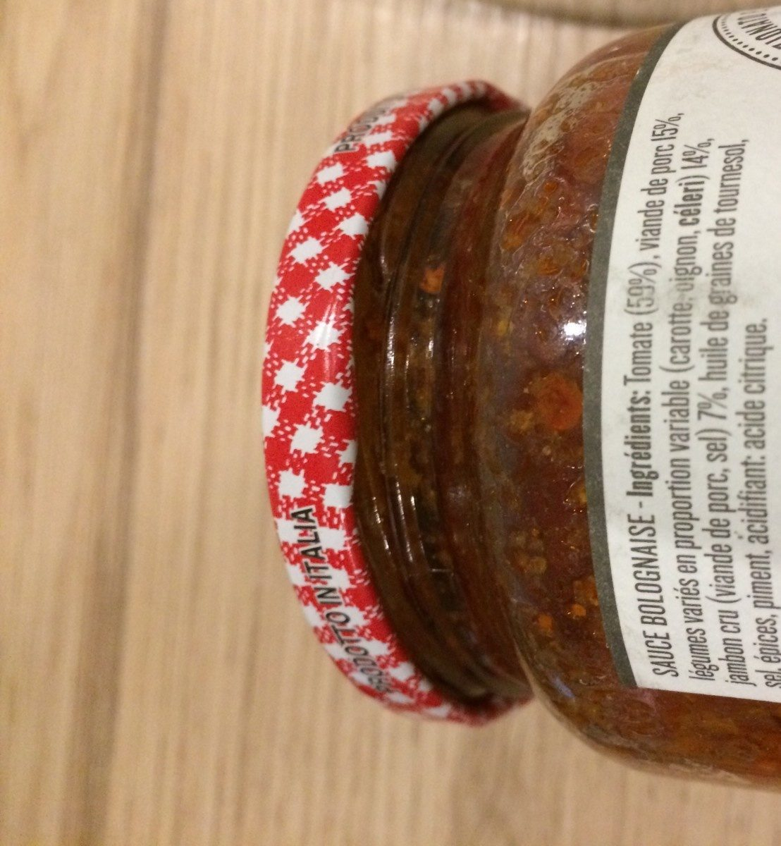 Sauce bolognaise - Ingrediënten - fr