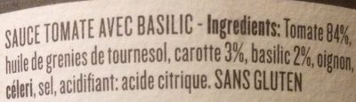 Sauce tomate avec basilic - Ingredients - fr