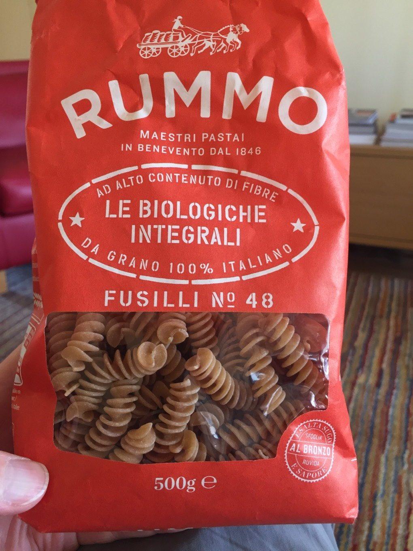 Vollkornnudeln, Bio, Fusilli Integrali, Le Biologiche, Rummo - Produit