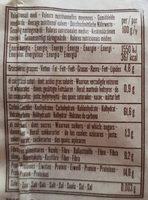 Fusilli Pois Chiches et Riz Brun - Informazioni nutrizionali