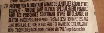 Maccheroncelli® aux lentilles corail et riz complet - Ingrediënten - fr